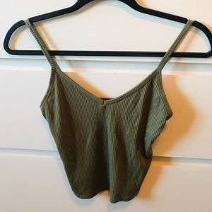💚Forever21 Olive Green Tank Top **NEVER WORN**💚